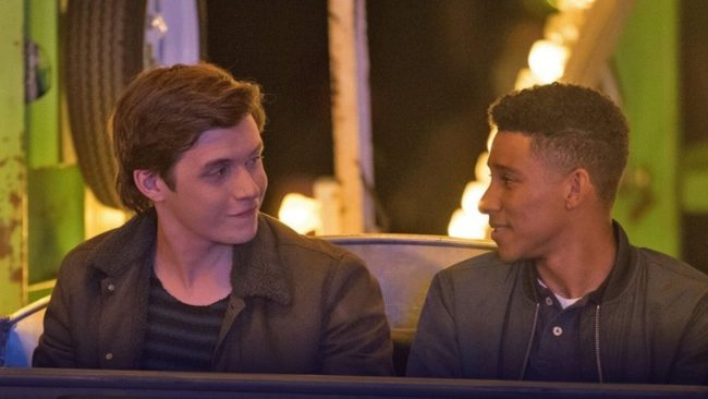 Nick Robinson and Keiynan Lonsdale in Love, Simon, one of the year's biggest gay films