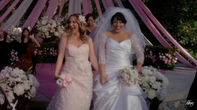 Torres and Robbins at their wedding