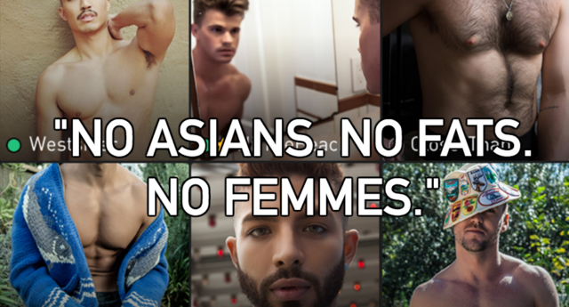 """No Asians"" may be banned, but the problem persists. (Grindr)"