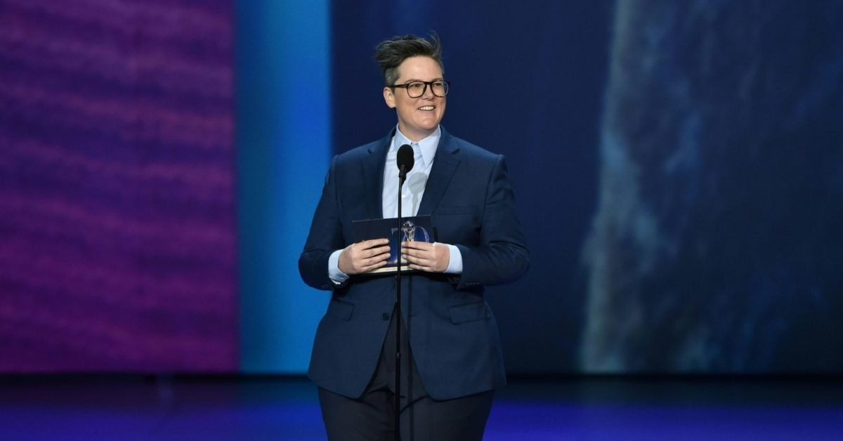 Comedian Hannah Gadsby speaks onstage during the 70th Emmy Awards at the Microsoft Theatre in Los Angeles, California on September 17, 2018 (Robyn Beck/AFP/Getty)