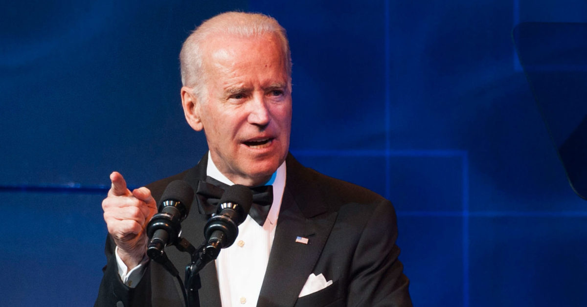 Joe Biden speaks during the Human Rights Campaign Los Angeles Gala Dinner on March 22, 2014 in Los Angeles, California (Valerie Macon/Getty)