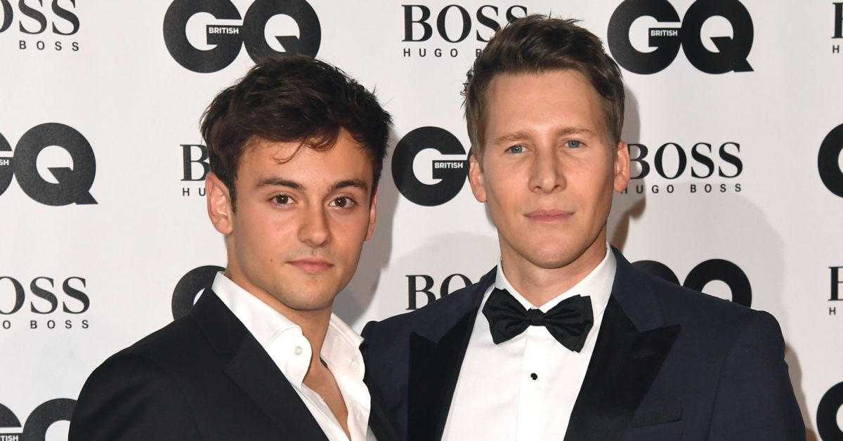 Tom Daley and Dustin Lance Black attends the GQ Men of the Year awards at the Tate Modern on September 5, 2018 in London, England. (Stuart C. Wilson/Getty)