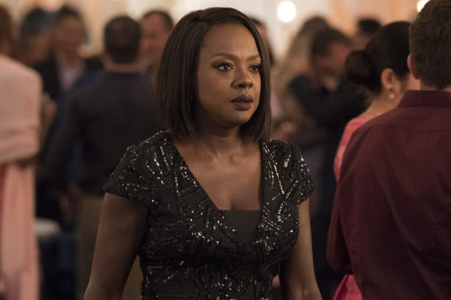 """HOW TO GET AWAY WITH MURDER - """"Your Funeral"""" - In the season five premiere episode, """"Your Funeral,"""" Annalise selects students for her new legal clinic at Middleton and juggles job offers from competing firms, all while the Keating 4 attempt to move on from last semester's turmoil. And in a startling flash-forward, a new mystery is introduced and it shakes things up for everyone on """"How to Get Away with Murder,"""" THURSDAY, SEPT. 27 (10:00-11:00 p.m. EDT), on The ABC Television Network. (ABC/Mitch Haaseth) VIOLA DAVIS"""