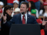 Doug Wardlow, the Republican candidate for Minnesota attorney general, speaks at a campaign rally held by US President Donald Trump on October 4, 2018. (Hannah Foslien/Getty Images)