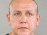 Pipe bomb terror suspect Cesar Sayoc poses for a mugshot photo in Miami, Florida (Broward County Sheriff's Office)