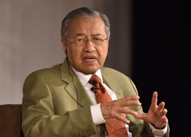 Malaysia's former prime minister Mahathir bin Mohamad