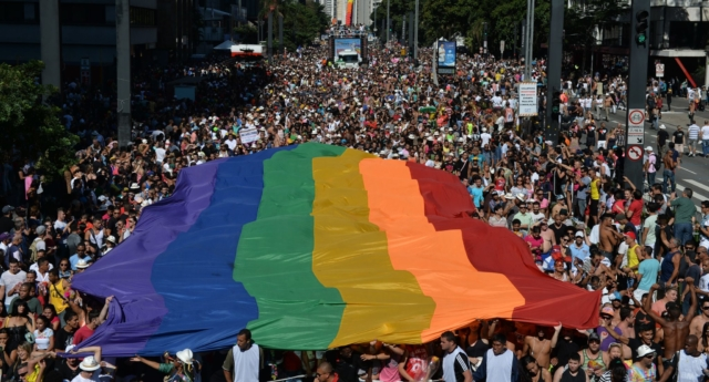 A Pride parade in Sao Paulo in 2014. (NELSON ALMEIDA/AFP/Getty Images)