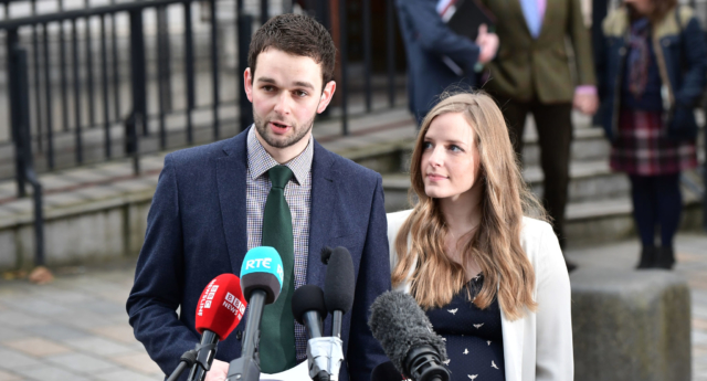 Daniel McArthur, managing director of Ashers Bakery and his wife Amy McArthur (Charles McQuillan/Getty)