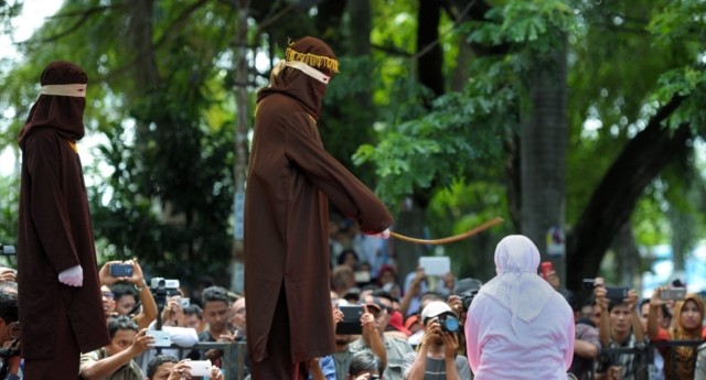 File photo. The women in Terengganu were caned six times each (CHAIDEER MAHYUDDIN/AFP/Getty)
