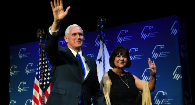 US Vice President Mike Pence and his wife Karen Pence (Ethan Miller/Getty)