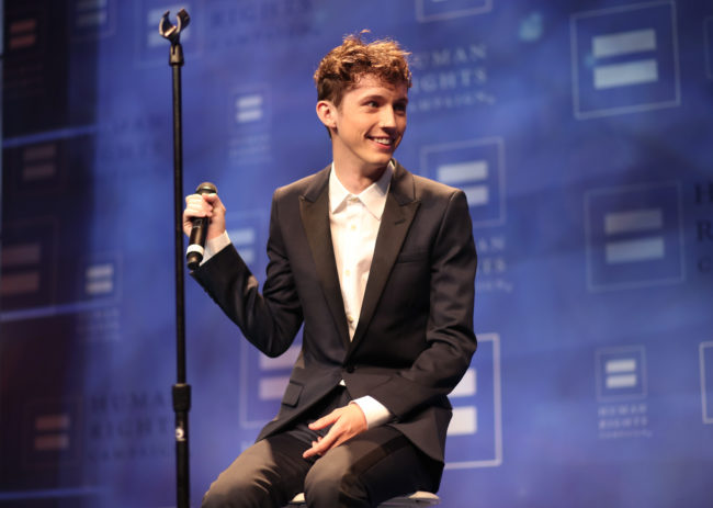 LOS ANGELES, CA - MARCH 18: Singer Troye Sivan performs onstage at The Human Rights Campaign 2017 Los Angeles Gala Dinner at JW Marriott Los Angeles at L.A. LIVE on March 18, 2017 in Los Angeles, California. (Photo by Christopher Polk/Getty Images for Human Rights Campaign)