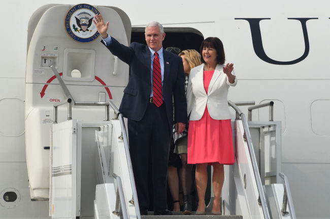 Vice President Mike Pence and his wife Karen Pence.