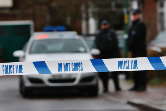 London sexual assault: Police tape is pictured in London, England.