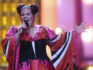 Israel's singer Netta Barzilai at Eurovision Song Contest 2018 (FRANCISCO LEONG/AFP/Getty)
