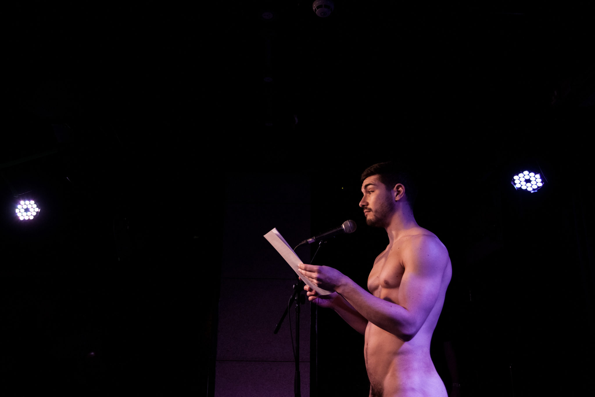 Naked Boys Reading event. (Vanek)