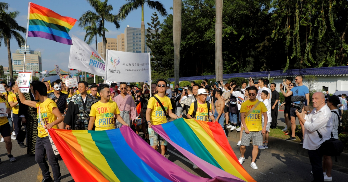 Huge crowds gather for Taiwan Pride parade to call for marriage equality
