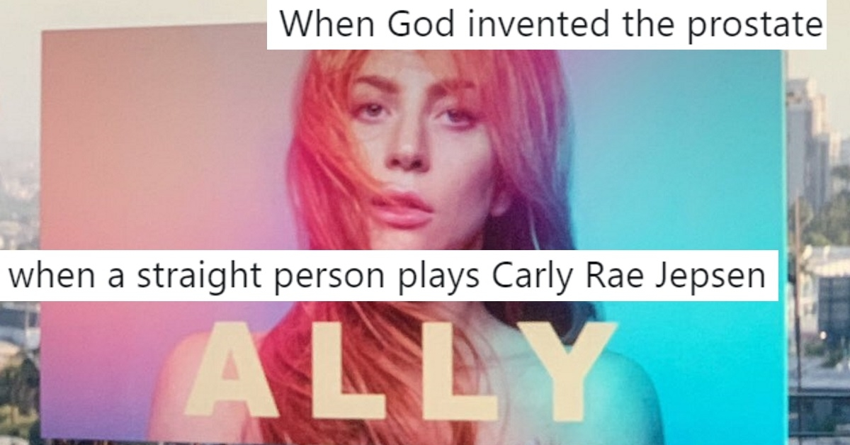 The billboard in A Star Is Born has been turned into a hilarious gay meme