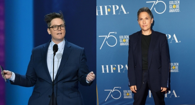 Hannah Gadsby (left) is reportedly dating Jill Soloway (right). (Robyn Beck/AFP/Getty;Frederick M. Brown/Getty)