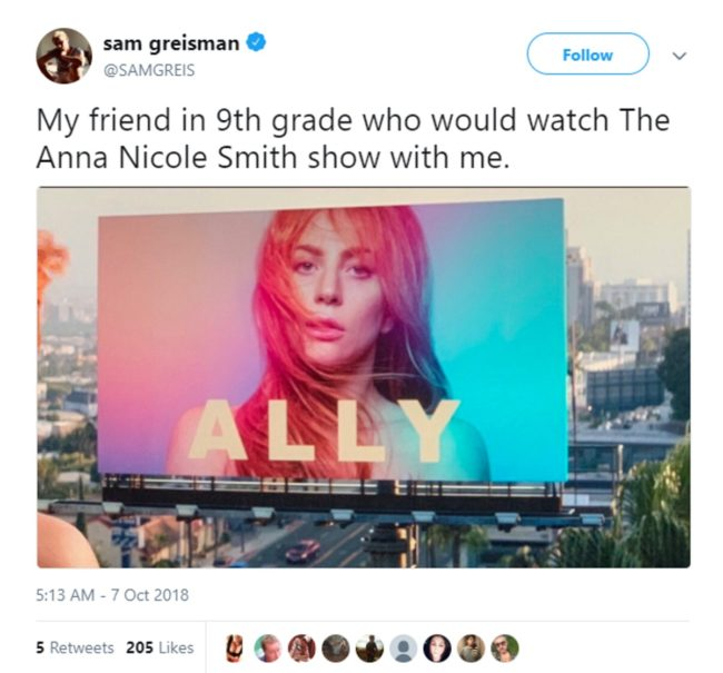 Gay memes: The billboard in A Star Is Born was transformed into a meme by Queer Twitter