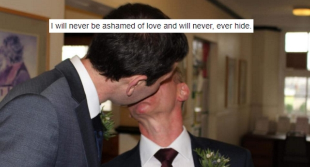 """""""I will never be ashamed of love and will never, ever hide"""" (wyn thomas/facebook)"""