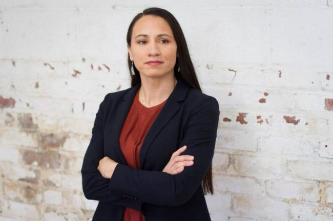 Kansas Congressional candidate Sharice Davids is leading the polls.