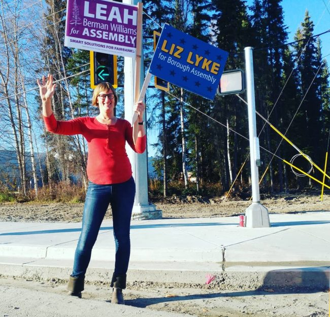 Trans politician Liz Lyke was voted in, in Fairbanks, Alaska.