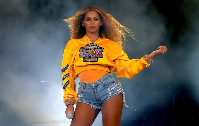 Beyoncé, who recently performed wearing the colours of the Pride flag