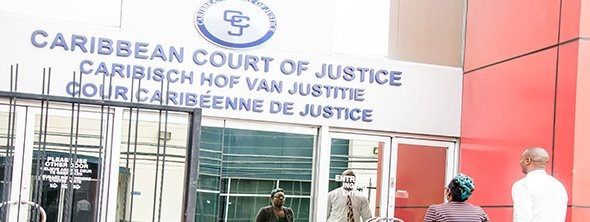 Thefront of the Caribbean Court of Justice building (CCJ)