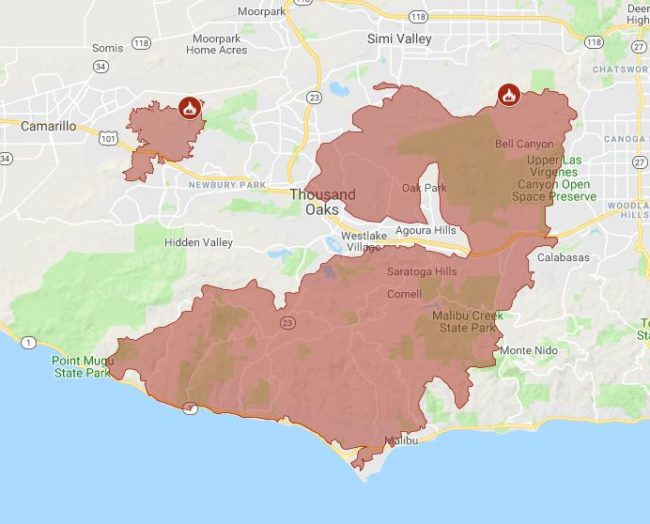Fires California Map.Caitlyn Jenner Confirms She S Safe After Fleeing California Fires