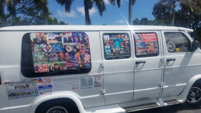 The van driven by pipe bomb terror suspect Cesar Sayoc