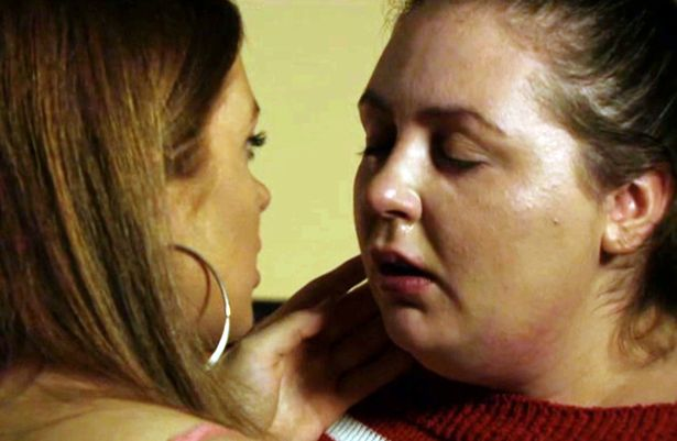 Tiffany and Bernie lesbian kiss from BBC's EastEnders