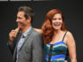 Actors Eric McCormack and Debra Messing attend the Will & Grace ribbon cutting Ceremony on August 2, 2017 in Los Angeles, California.  (Matt Winkelmeyer/Getty)