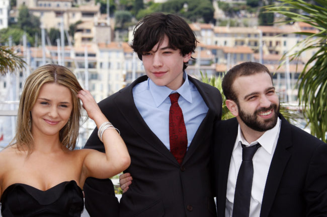 Ezra Miller with the cast of Afterschool