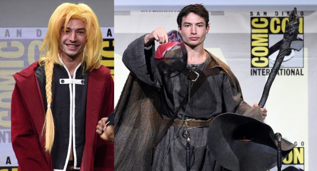 Ezra Miller's outfits at Comic-Con