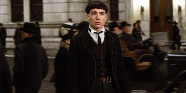 Ezra Miller in Fantastic Beasts and Where To Find Them