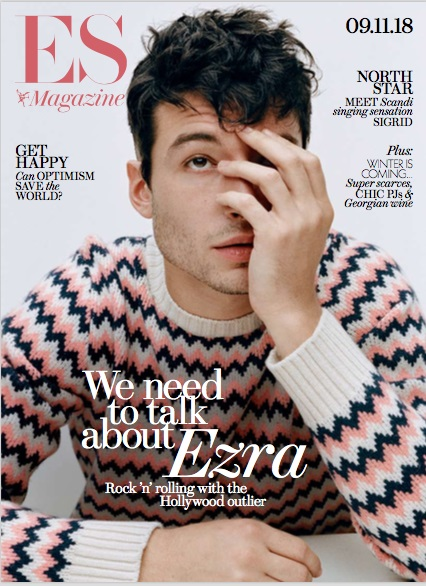 Ezra Miller on the cover of ES Magazine