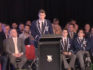 St. Ignatius' College student Finn Standard came out as gay in front of his classmates at a school assembly. (SBS News)