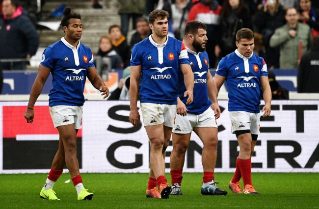 Photo of the French rugby team.