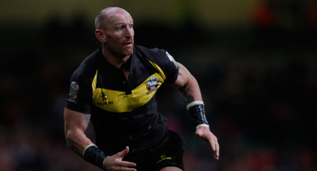 Gareth Thomas of Crusaders in action during the Engage Super League Match between Crusaders RL and Salford City Reds at Millennium Stadium on February 13, 2011 in Cardiff, Wales.  (Stu Forster/Getty Images)