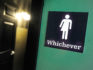 A gender neutral sign. (Photo by Sara D. Davis/Getty Images)