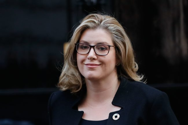 Britain's International Development Secretary and Minister for Women and Equalities Penny Mordaunt