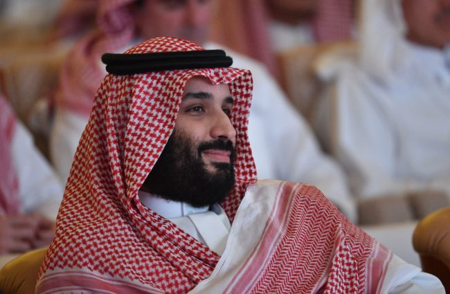 Saudi Crown Prince Mohammed bin Salman pictured at a conference in Riyadh, Saudi Arabia, where gay sex is still punishable by death penalty.
