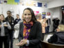 Sharice Davids, is greeted by supporters during a rally at a field office on November 5, 2018 in Overland Park, Kansas.  (Whitney Curtis/Getty)
