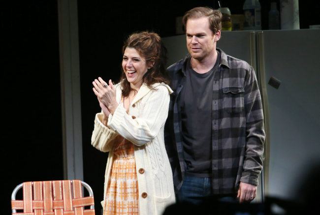 Dexter star Michael C Hall and Marisa Tomei