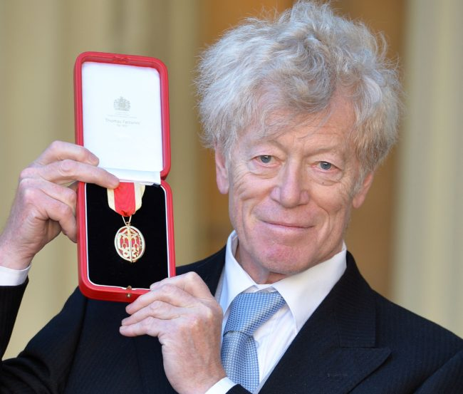 Roger Scruton after he was knighted by the Prince of Wales