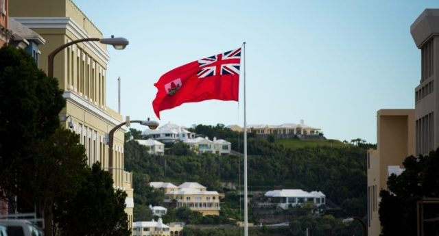 The flag of Bermuda flies in the territory's capital, Hamilton (Getty)