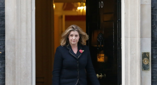 International Development Secretary and Minister for Women and Equalities Penny Mordaunt leaves 10 Downing Street in London on November 9, 2017.  (Daniel Leal-Olivas/AFP/Getty)
