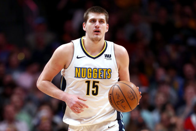 Nikola Jokic of the Denver Nuggets, who was fined for saying 'no homo'