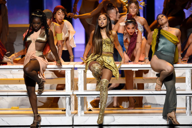 "Ariana Grande performs ""God Is a Woman"" at the 2018 MTV Video Music Awards"
