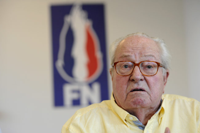 Jean-Marie Le Pen, the founder of France's National Front